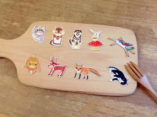 Forest animals. Waterproof Stickers