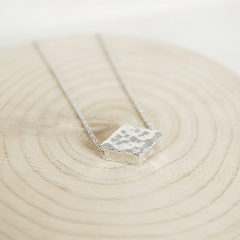 Geometric Diamond Sterling Silver Necklace