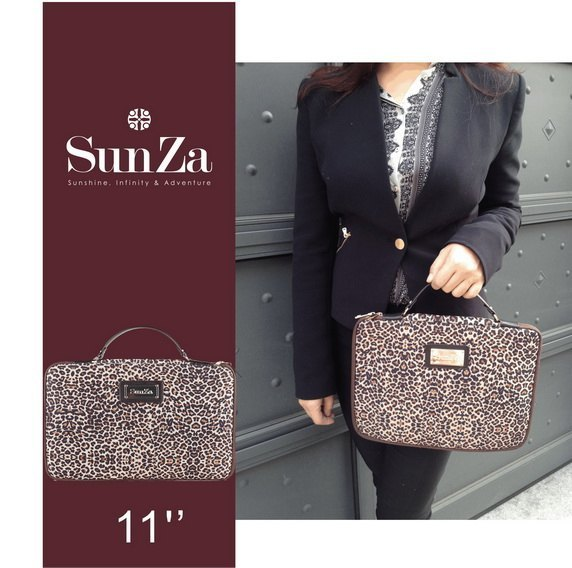 "SunZa-11 ""inch portable laptop bag fashion Leopard"