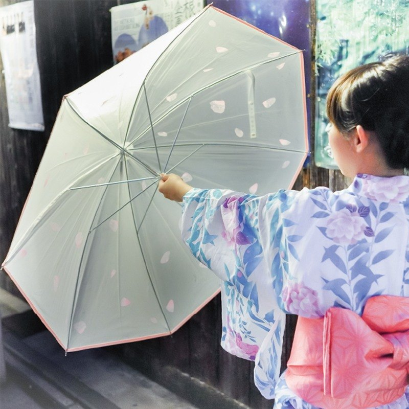Spring: Cherry Blossom Light Umbrella (Semi-Transparent)