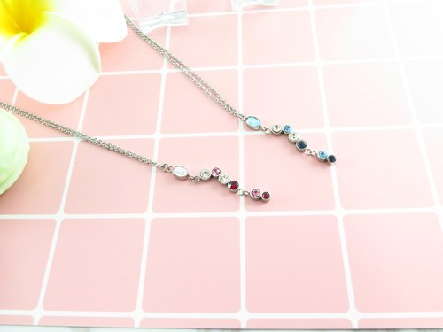 Swing Necklace 316L Stainless Steel Swarovski Crystals X3P