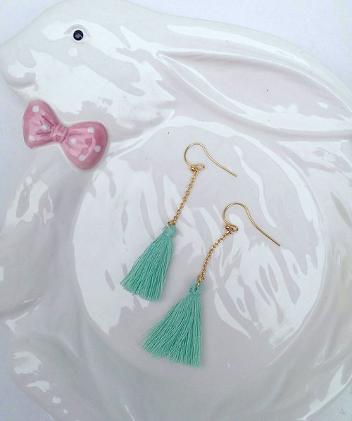 (Hypoallergenic) macaron earrings - Mint