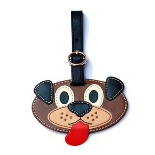 Organized Travel- cute animal shaped luggage tag / ID tag / key ring (dog)