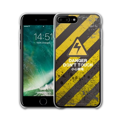 AppleWork iPhone 6 / 6S / 7/8 Plus Original Design Case - Electric Shock Caution PSIP-198