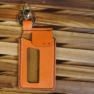 Orange travel card sleeve key ring colorful series of hand-sewn 150722