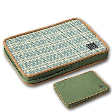 """Lifeapp"" Pet pressure relief mattress XS (green plaid) W45 x D30 x H5 cm"