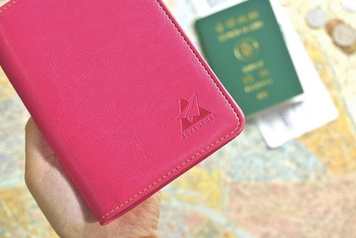 Adventure Adventures Passport Case - pink