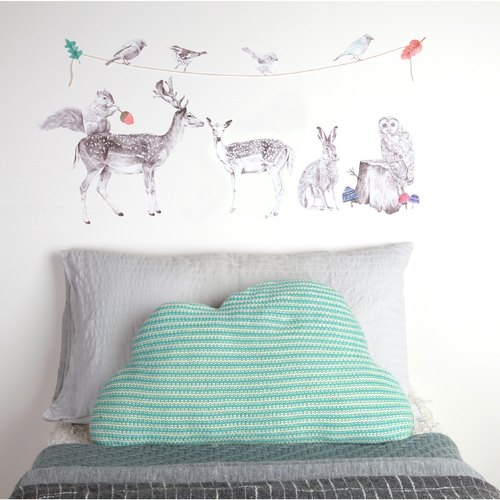 Forest friends < love mae Australia nontoxic patent wall stickers in >