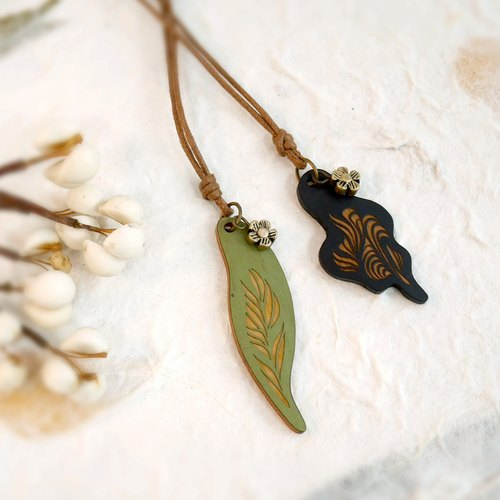 Prayer Bamboo Leaf Chain-Necklace