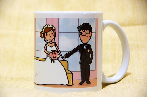 Exclusive orders - Customized mugs newlyweds gift