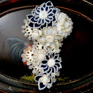 Japanese handmade minami whole handmade flower brooch hook