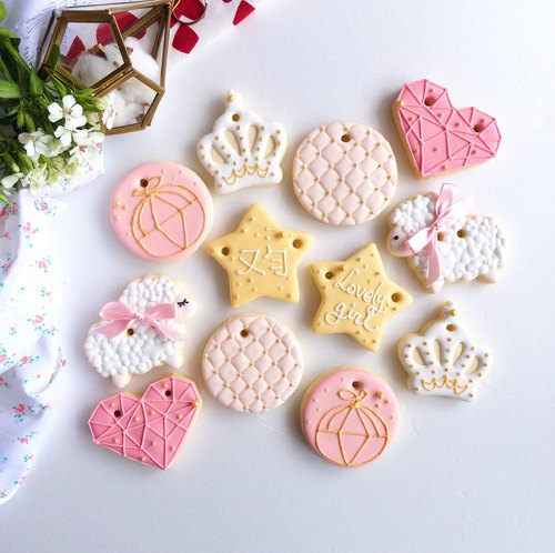 Salivate sugar crackers • DiamondHeart girls handmade creative design gift box set of 12**Please consult the order before the time**