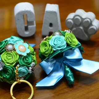 CAmelliaT camellia jewelry bouquet keychain cat * [lucky cauliflower money] * was * sisters small wedding ceremony