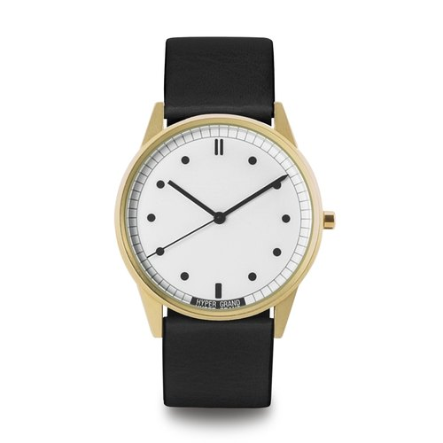 HYPERGRAND - 01 Basic Collection - Black gold dial with white gold watch