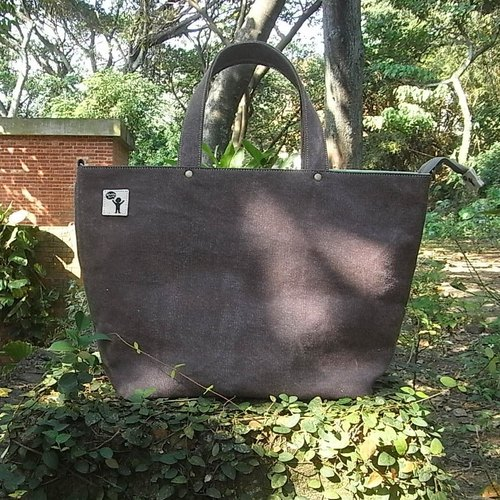 Cloth Hugs / Brown Washed Canvas Travel Tote