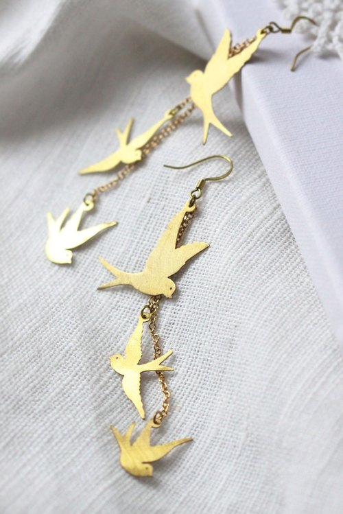 Martin stencil earrings