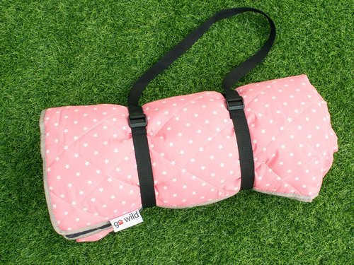 Go Wil picnic mat pink stars] [Increased thickening | double-sided color design | bottom with black and white pop style