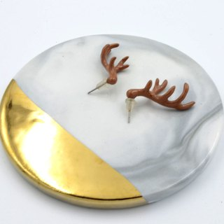 TIMBEE LO colored resin enamel stag horn earrings
