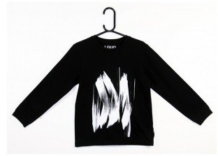"2014 Fall Winter Loud apparel "" BRUSH print "" black cotton T-shirt"