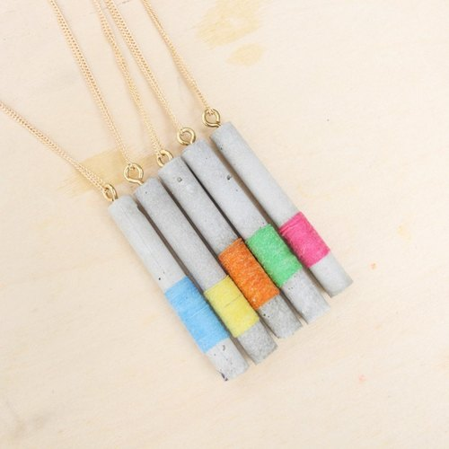 Lightning rod series cement Necklace