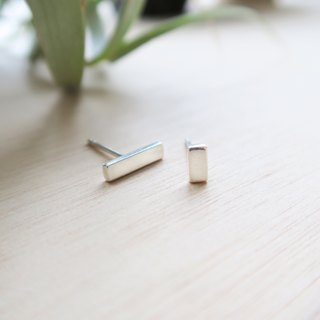 925 Silver asymmetrical rectangular earrings-Sold as a Pair