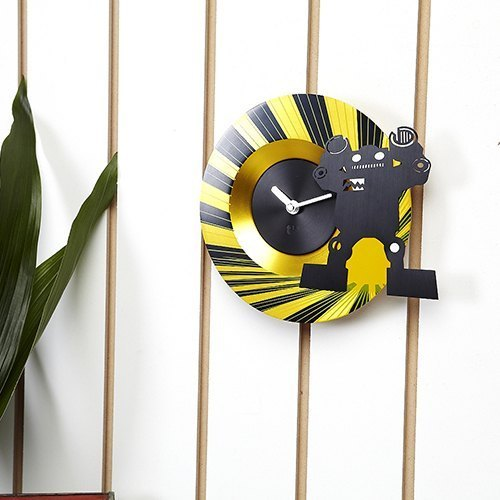 Swap Robot Timepiece Yellow Clock I Fashion Clock