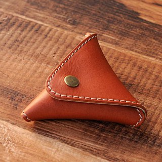 [DOZI leather hand made] triangle coin purse coin bag can be freely selected
