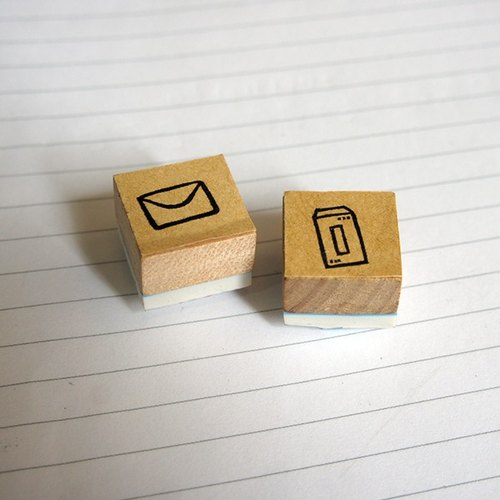 Little things} hand carved rubber stamp _ received a letter from two groups