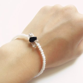 """KeepitPetite"" minimalist black and white natural spar · · Bracelet"