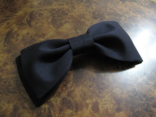 Dark blue double bow