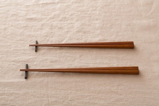 Pint! Kyoto bamboo chopsticks bamboo coal blackened paint rub 24cm