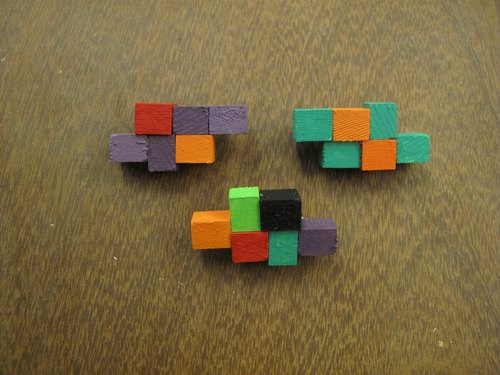 Blocks brooch - Tetris series