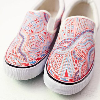 Hand Drawing Shoes/Vermilion + Aqua