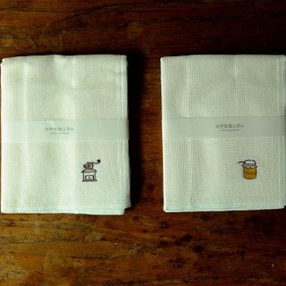 IZAWA nets texture and embroidery of traditional Japanese family kitchen cloth / rag two groups grinder and jam