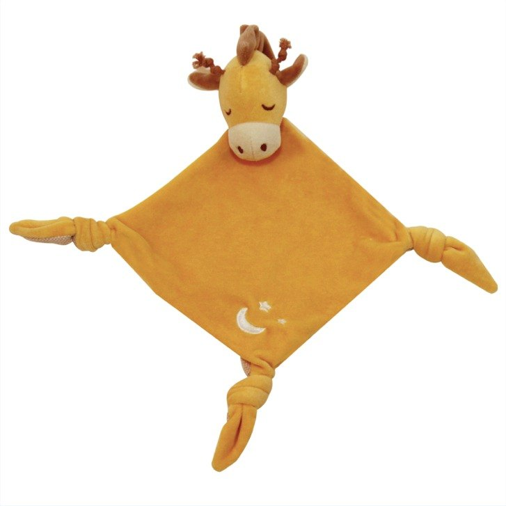 US MyNatural organic cotton Goodnight series appease towel - golden giraffe