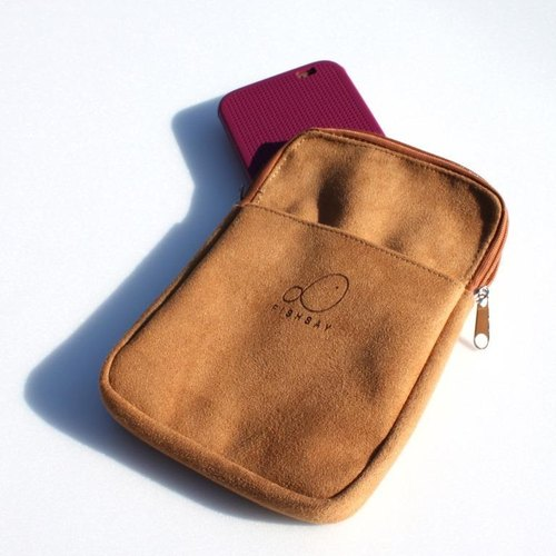 Micro suede – Cellphone bag – zip