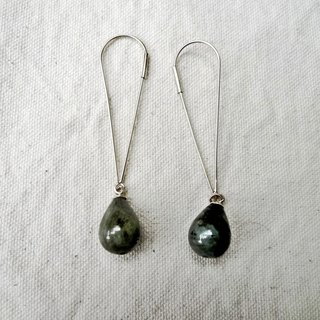 Minimalist series _ natural stone silver earrings