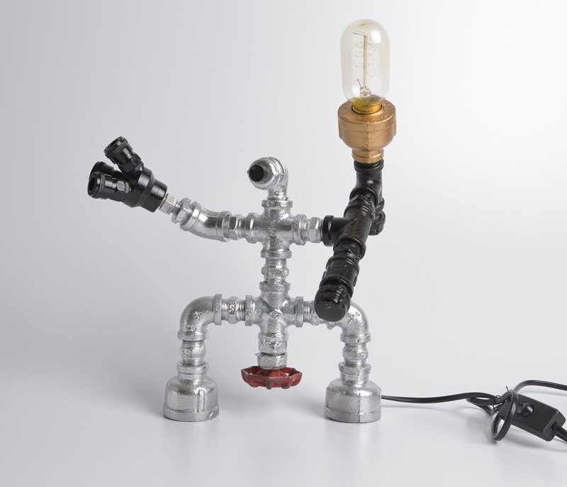 Industrial wind shape table lamp / light jewelry exhibition / Guard 2 / Edison light bulb