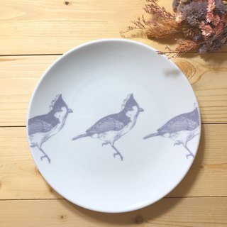 "Taiwan Yellow Tit: Taiwan's endemic species of birds and forests beauty series 6"" plate / disc"