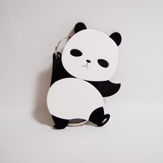 I Love Zoo - Panda Key Acrylic Keyring - Single Sided