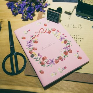 Zoe's forest strawberry wreath Fukubukuro group paper tape + notes book PinkoiXmas Christmas gifts