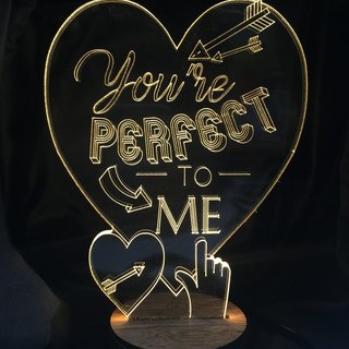 LightXLife 3D Night Light - Customized You're Perfect to me