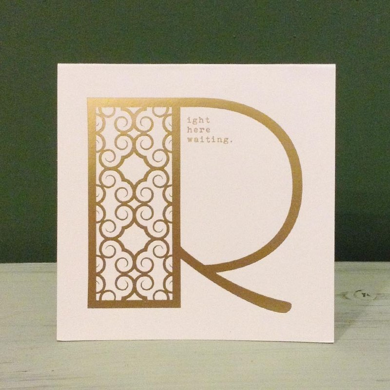 Bronzing letter card envelope sticker group -R