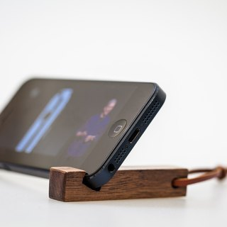 Wooden key ring mobile phone holder