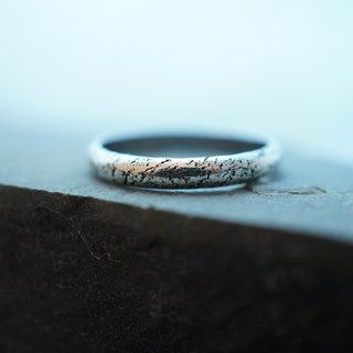 【janvierMade】Delicate Universe Sterling Silver Ring / Contemporary Textured Ring / 925 Sterling Silver Handmade