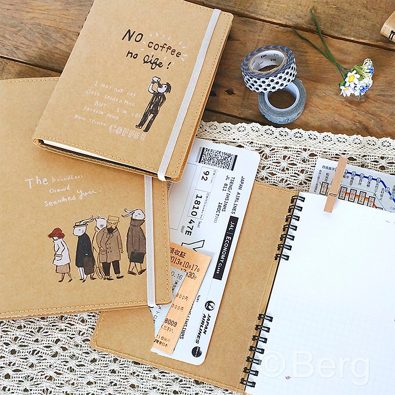 Berger stationery xHey! Guys [36K leather personality handwritten] four design