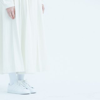 pleated ankle length wide pants