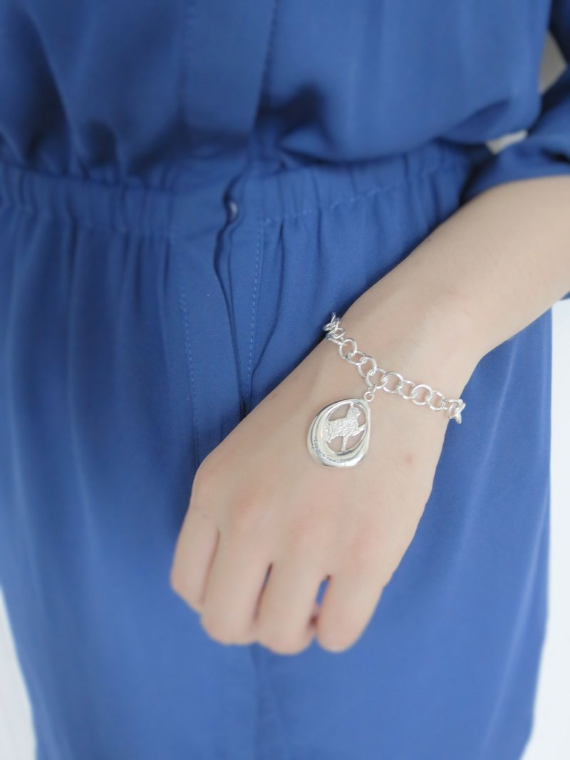 They are Family- Kitty Paw (925 Sterling silver bracelet) - C percent jewelry