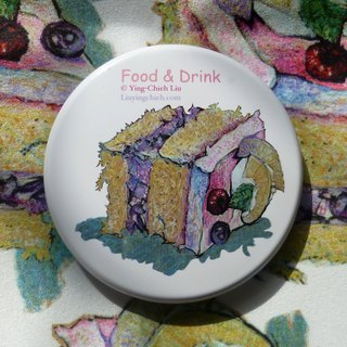 {||||| Fruit cream cake |||||} ○ portable mirror box / mirror / small mirror ○