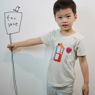 Children's Cotton Hand Print T-Shirt - Childlike No Head